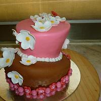Topsy Turvy Wonky Tonky Cake by Cherie Permalino