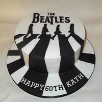 Beatles Abbey Road cake