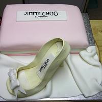 My First Gumpaste Shoe Cake