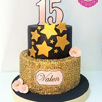 Sequins cake for 15th birthday
