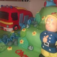 fireman Sam+ his engine and Igglepiggle :)