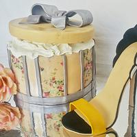 Shoes and box cake