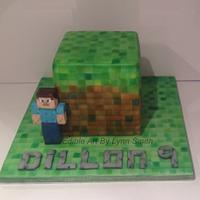 Airbrushed Minecraft Cake