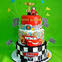 Kharl's Cars themed Cake