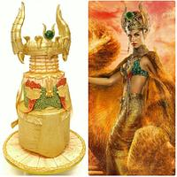 Gold Fashion Cake, Hathor - The Egyptian Goddess of Love