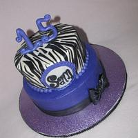 Royal purple and zebra print