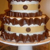 CHOCOLATE PLEATED CAKE by Linda