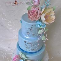 Birthday cake in pastel