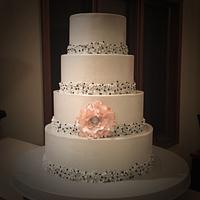 Silver winter wedding cake