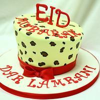 Leopard print Eid cake