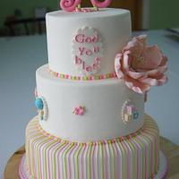 Alexxia's Baby Dedication Cake by ELeeBar