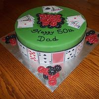 another birthday poker cake