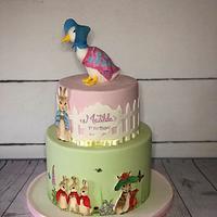 Beatrix Potter 1st birthday cake