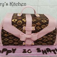 LV Bag cake by Elite Sweet Cakes