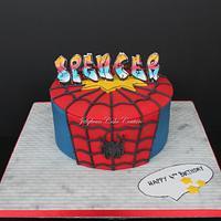 Spiderman/80's graffiti cake