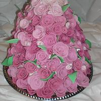 Tons of pink roses