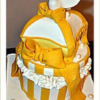 Golden Gift Cake