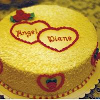 Hearts & Roses Engagement Cake