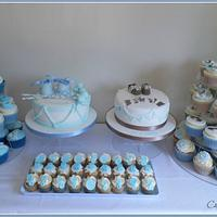 Joint Christening dessert table