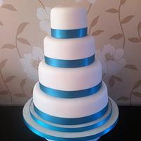 Naked wedding cake!