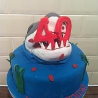 Jaws 40th Birthday Cake by LindyLou