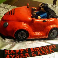 Car cake for twins!