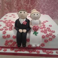 single wedding cake by kerry