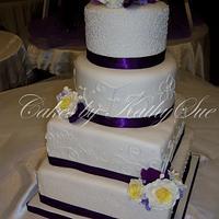 purple & yellow wedding