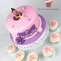 Ballerina cake and cupcakes