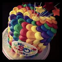 Rainbow Petal cake!