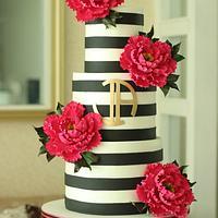 """Chic"" Wedding Cake"