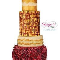 Country theme wedding cake