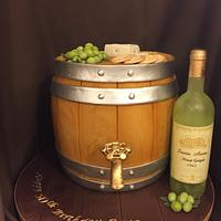 50th birthday Wine Barrel Cake