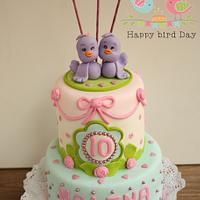 Birdy cake/ Tarta de Pajaritos