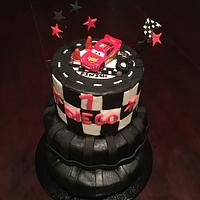 Cars tire cake