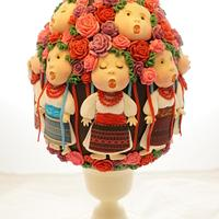 "Easter Egg cake.  Eugenia Gapchinska ""Хор имени Веревки"""