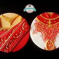Asian /Indian wedding cupcake toppers