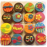 Colourful birthday cupcakes