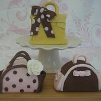 Leopard Print Handbag Cakes