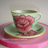 sugar teacup and saucer