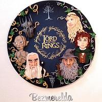 Lord of the Rings sugar plaque