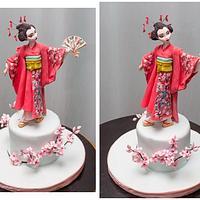 japanese geisha cake