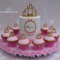 Princess themed cake & cupcakes