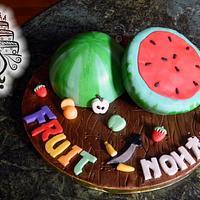 Fruit Ninja cake