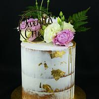 Semi Naked 21st Birthday Cake by Cakes by Vivienne