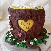 Wooden Anniversary Carved Heart