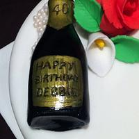 Champagne & Flowers by lizziescakesherts