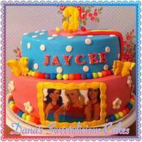 K3 rainbow cake