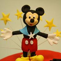mickey mouse in mickey park inspired cake