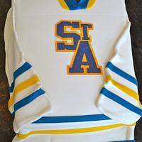 Hockey jersey cake by Carol